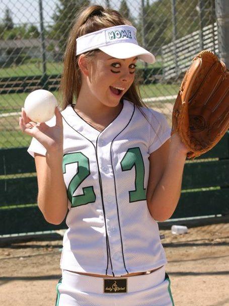 Kari Sweets in her baseball kit